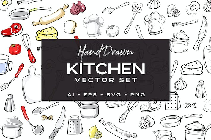 Thumbnail for Kitchen Set - Hand Drawn