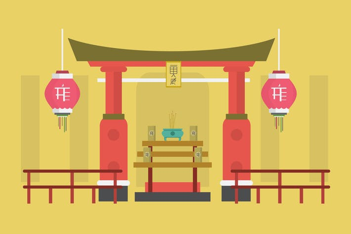 Thumbnail for Shrine - Illustration Background