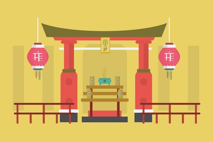 Thumbnail for Sanctuaire - Illustration Arrière-plan