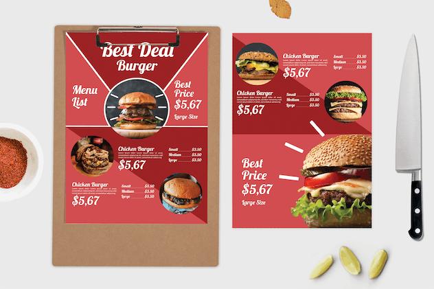 Best Burger – Food Menu Template