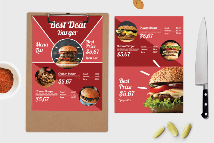 Thumbnail for Best Burger – Food Menu Template