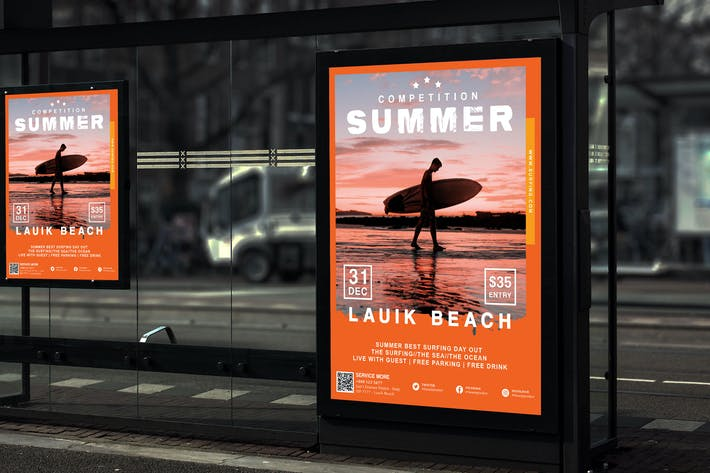 Thumbnail for Lauik - Surfing and Summer Event Poster HR