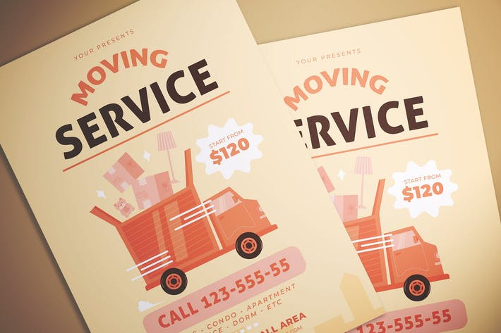 Thumbnail for Moving Service Flyer