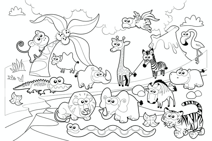 Thumbnail for Savannah Animal Family with Background