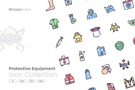 Schutzausrüstung gefüllt Icon