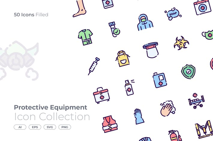 Protective Equipment Filled Icon