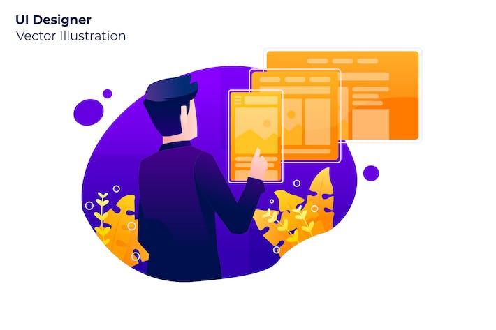 Thumbnail for UI Designer - Vector Illustration