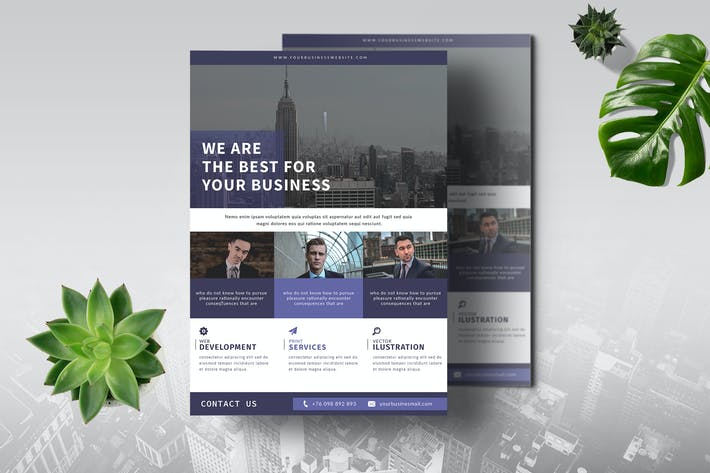 Thumbnail for Business Flyer Template Vol. 05