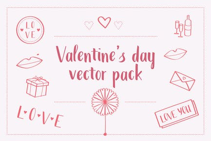 Valentinstag Vektor paket