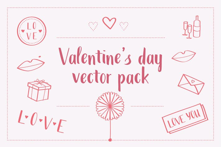 Thumbnail for Valentines Day Vector Pack