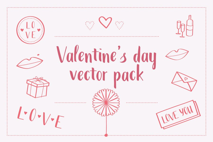 Valentines Day Vector Pack