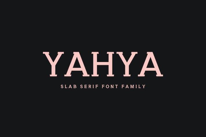 Thumbnail for Yahya Slab Con serifa Familia tipográfica