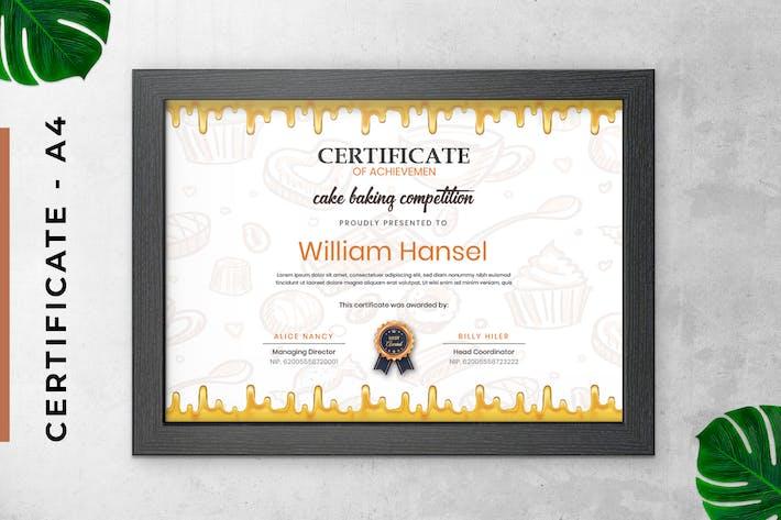Modèle de certificat culinaire/Diplôme