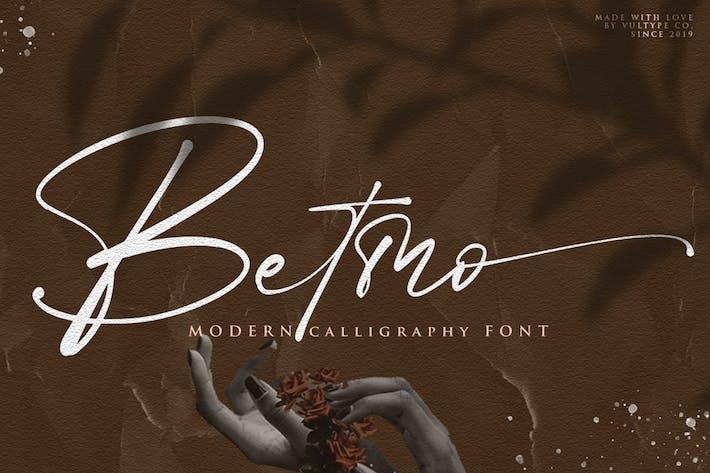 Betmo Handwritten Font