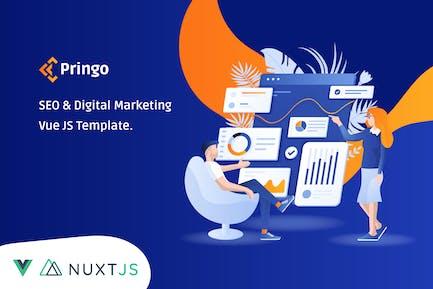 Pringo - Digital Marketing Vue JS Template