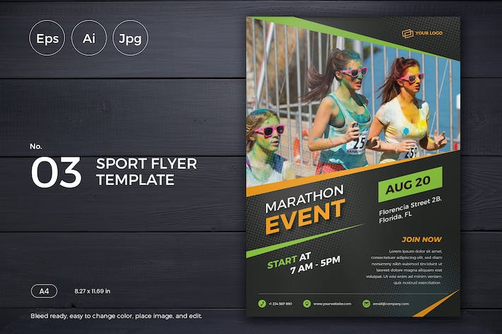 Thumbnail for Sports Event Flyer Template 03 - Slidewerk