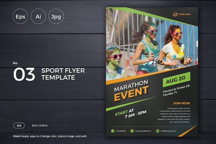 Thumbnail for Événement sportif dépliant Modèle 03 - Slidewerk