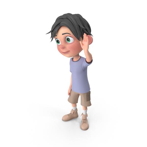 Мультфильм Мальчик Джек Размахивая Рукой
