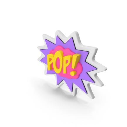 Comic-Sprechblase mit Wortbestand POP