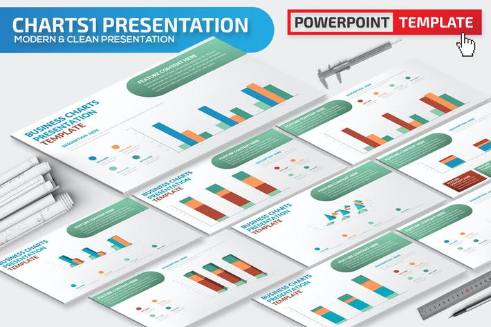 Thumbnail for Charts Powerpoint Presentation Template