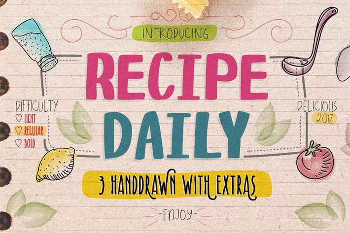 Thumbnail for Recipe Daily Typeface
