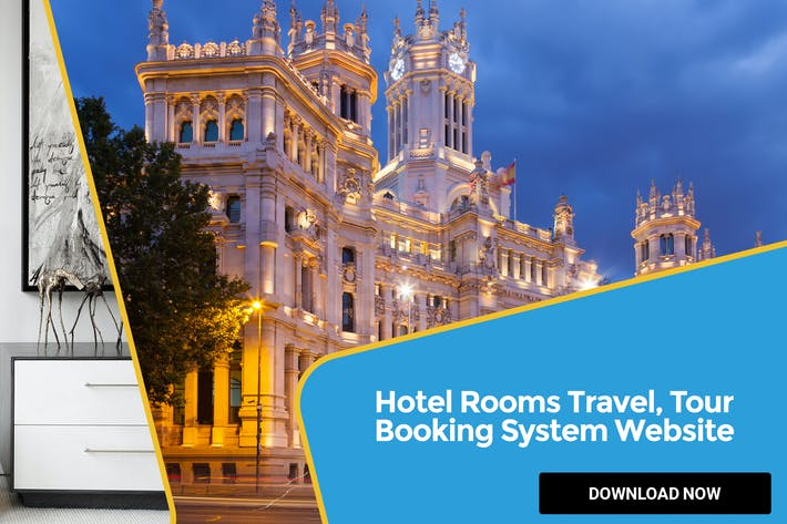 Cover Image For Hotel Rooms Travel, Tour Booking System Website