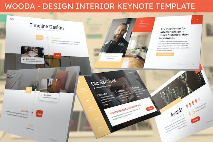 Thumbnail for Wooda - Design Interior Keynote Template