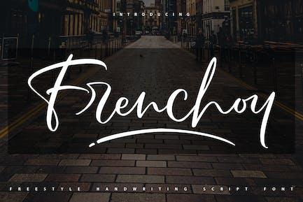 Frenchoy   Police de script d'écriture manuscrite