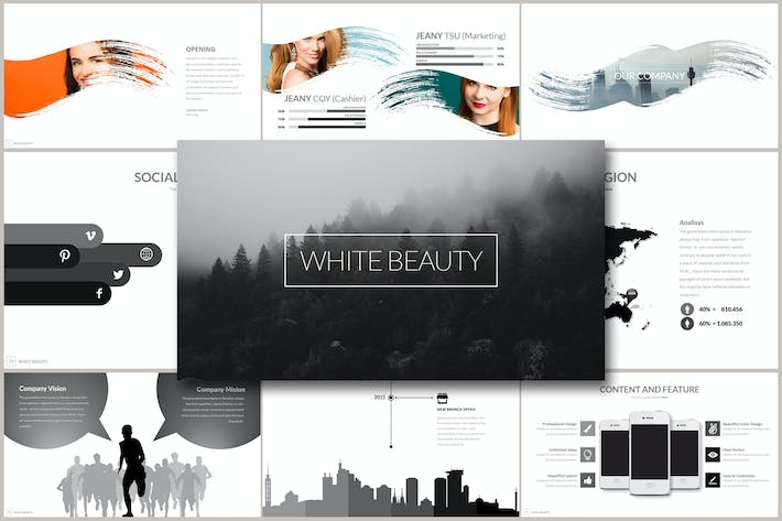 Thumbnail for WHITE BEAUTY Google Slides