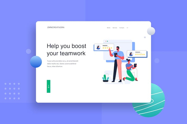 Thumbnail for Give rating to partner landing page Illustration