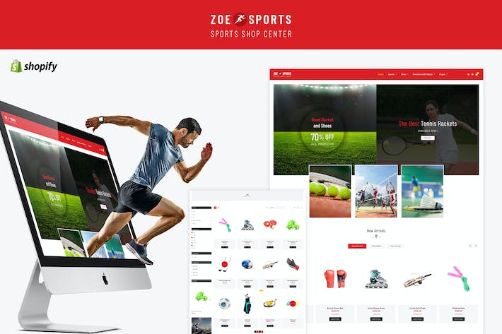 Thumbnail for Zoe - Sport Store Shopify Theme