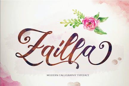 Zailla Script - Elegant Luxury Logotype