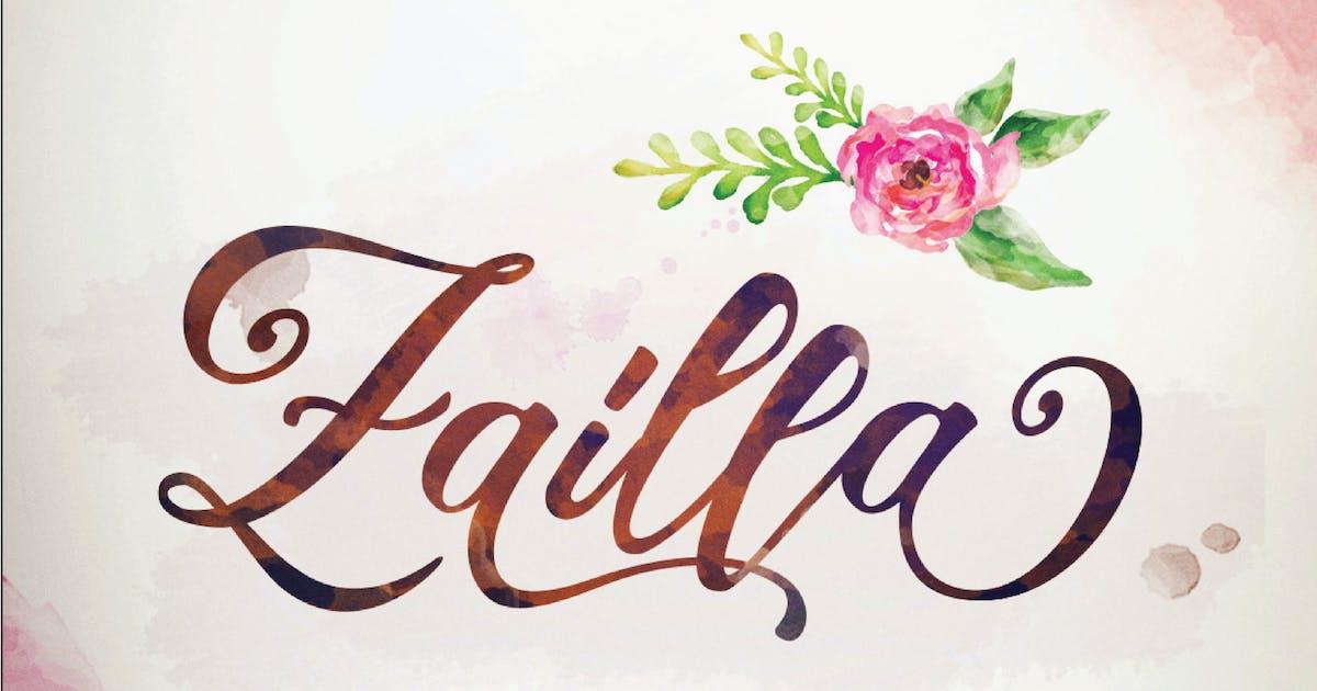 Download Zailla Script - Elegant Luxury Logotype by dirtylinestudio