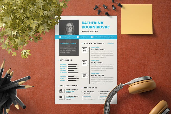 Thumbnail for Resume Template v.6