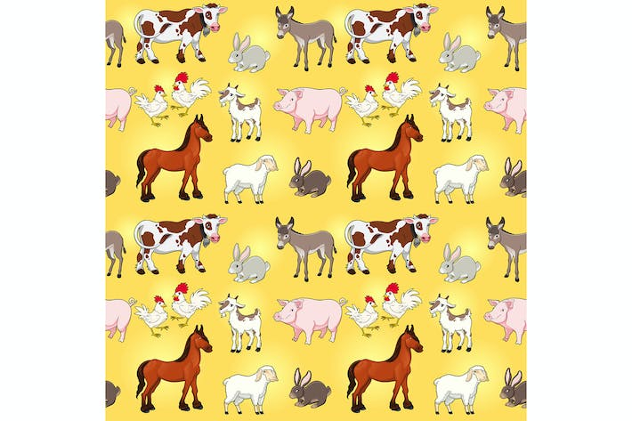 Thumbnail for Funny Farm Animals with Background