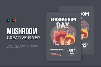 Mushroom Day - Flyer