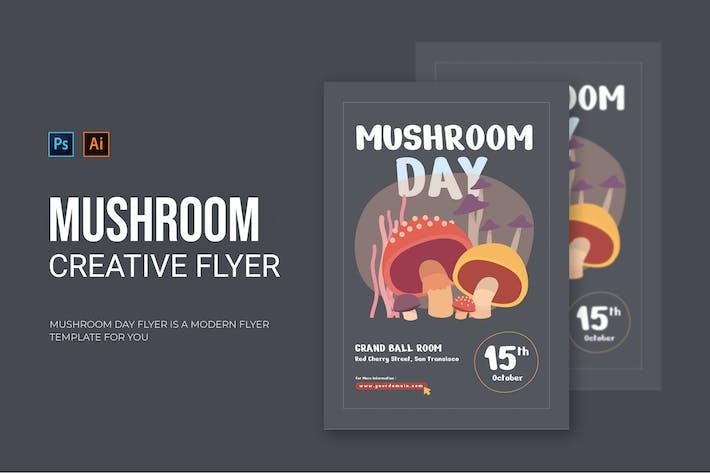 Thumbnail for Mushroom Day - Flyer