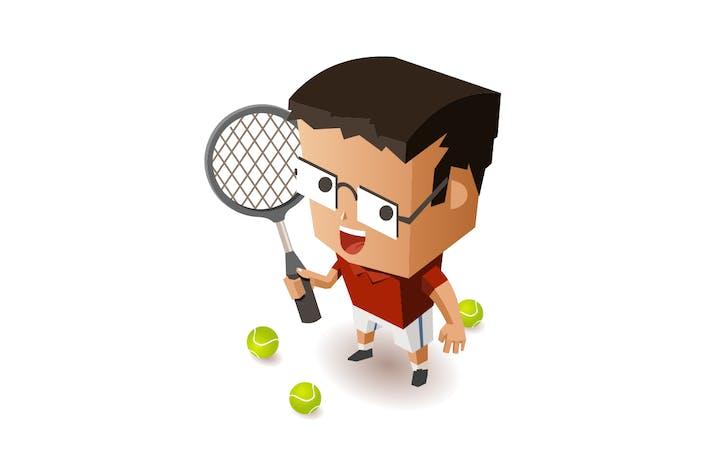 Thumbnail for Kid training Tennis