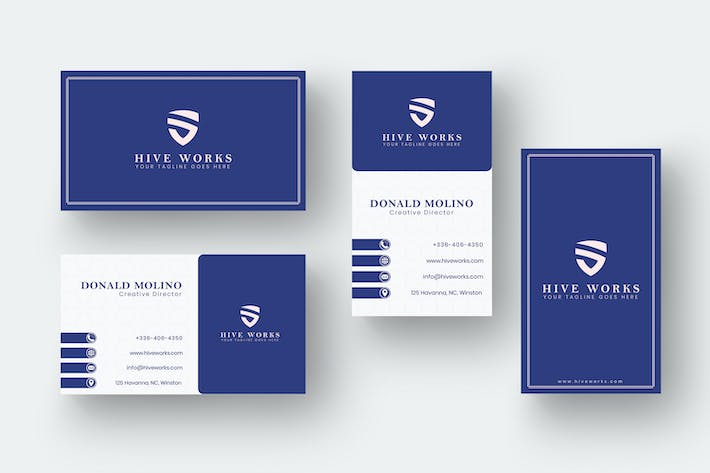 Thumbnail for Business Card Name Horizontal and Vertical