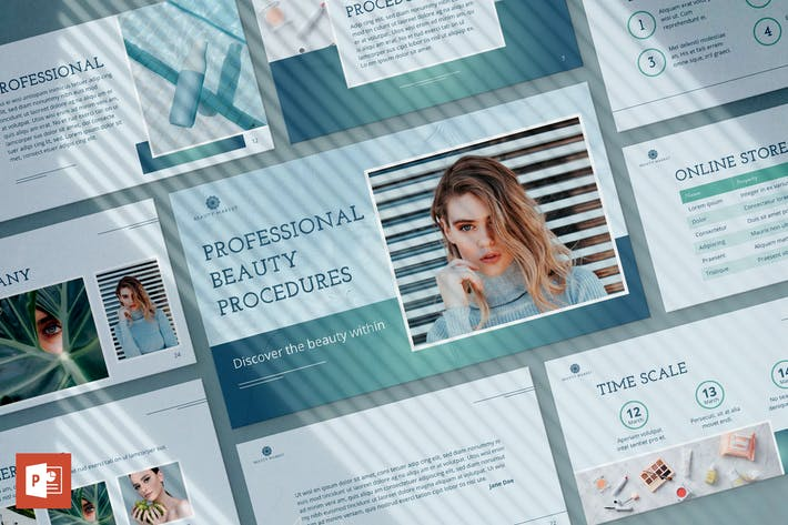 Thumbnail for Beauty Market PowerPoint Presentation Template