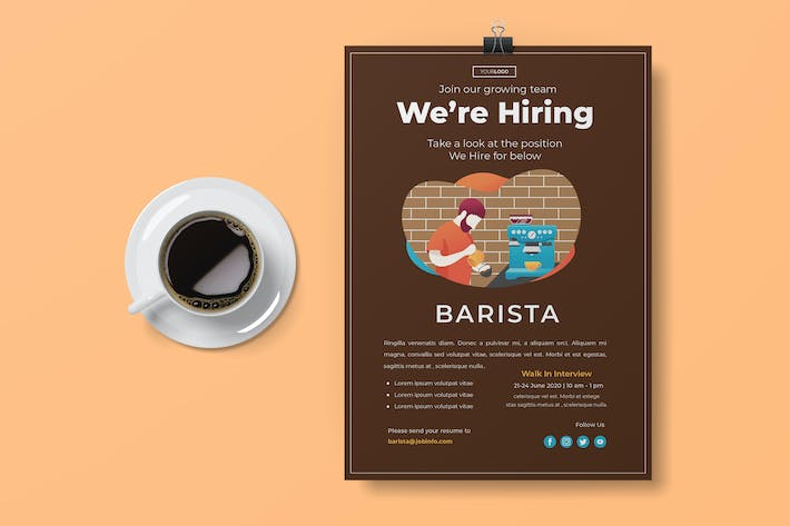 Thumbnail for Hiring Flyer Template