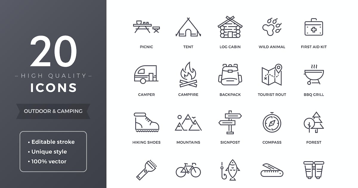 Download Camping Icons by filborg