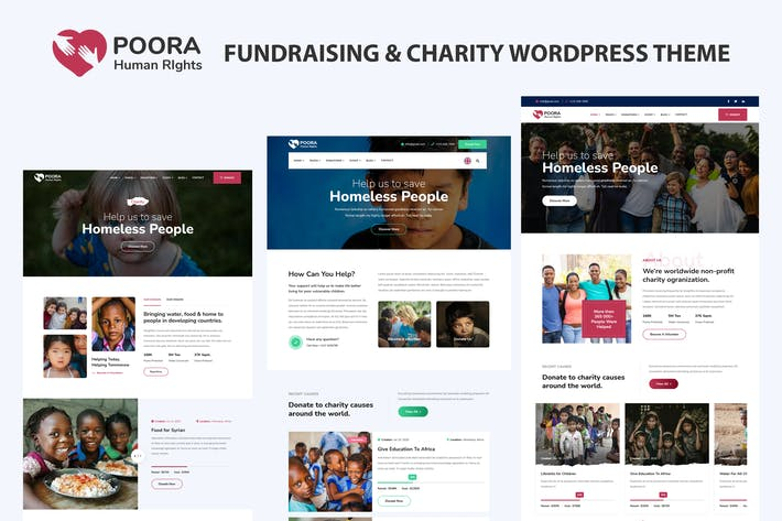 Poora - Fundraising & Charity WordPress Theme