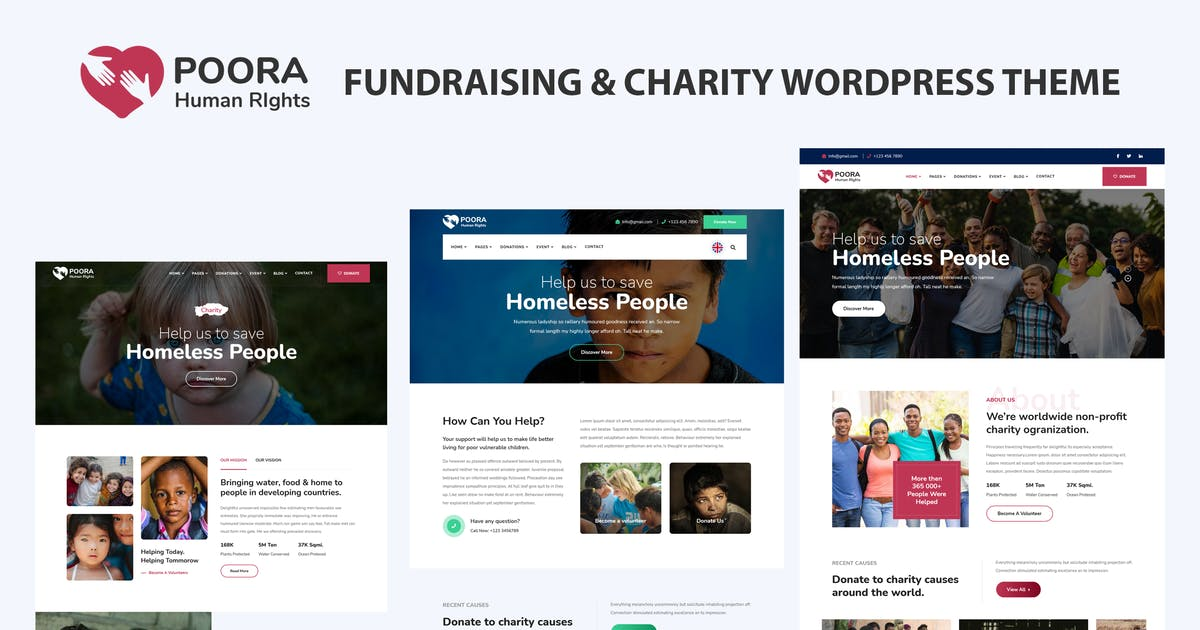Download Poora - Fundraising & Charity WordPress Theme by shtheme