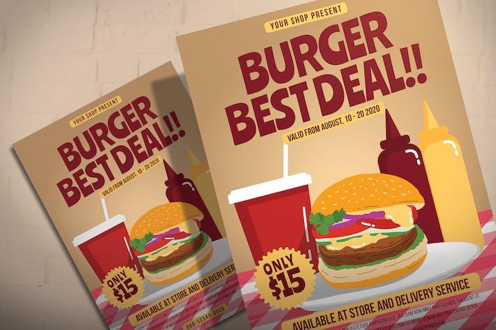 Thumbnail for Burger Shop Sale - Flyer Template