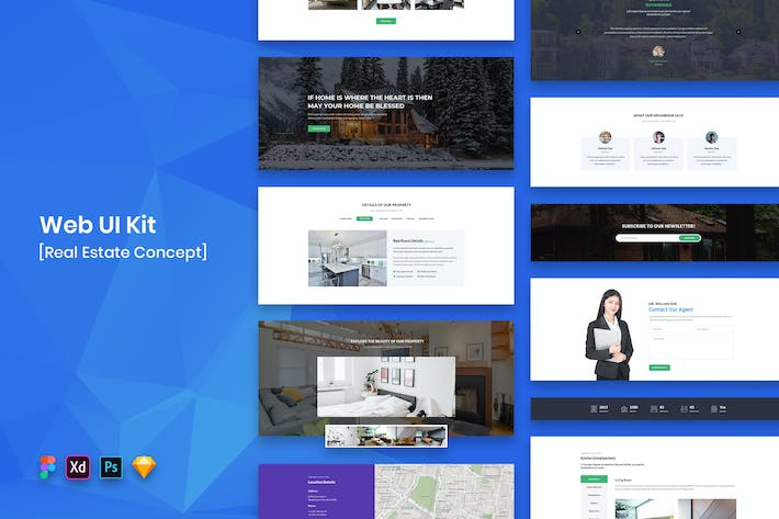 Cover Image For Real Estate Web UI Kit-02