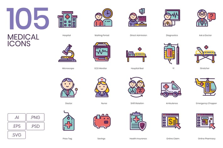 Thumbnail for 105 Medical Icons