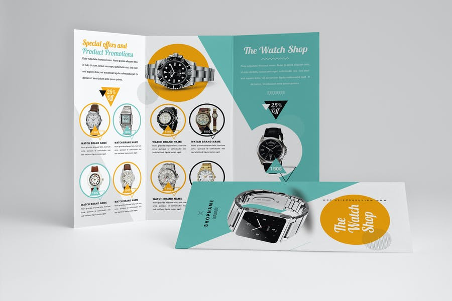 Watch Store Trifold Brochure