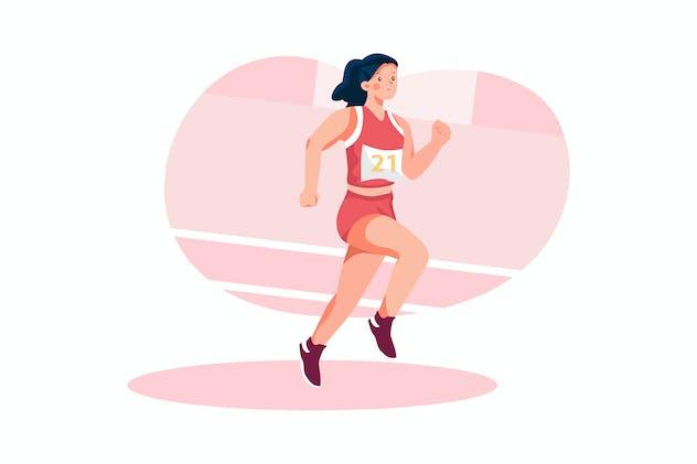 Athletics - Olympic Sport Illustration Concept