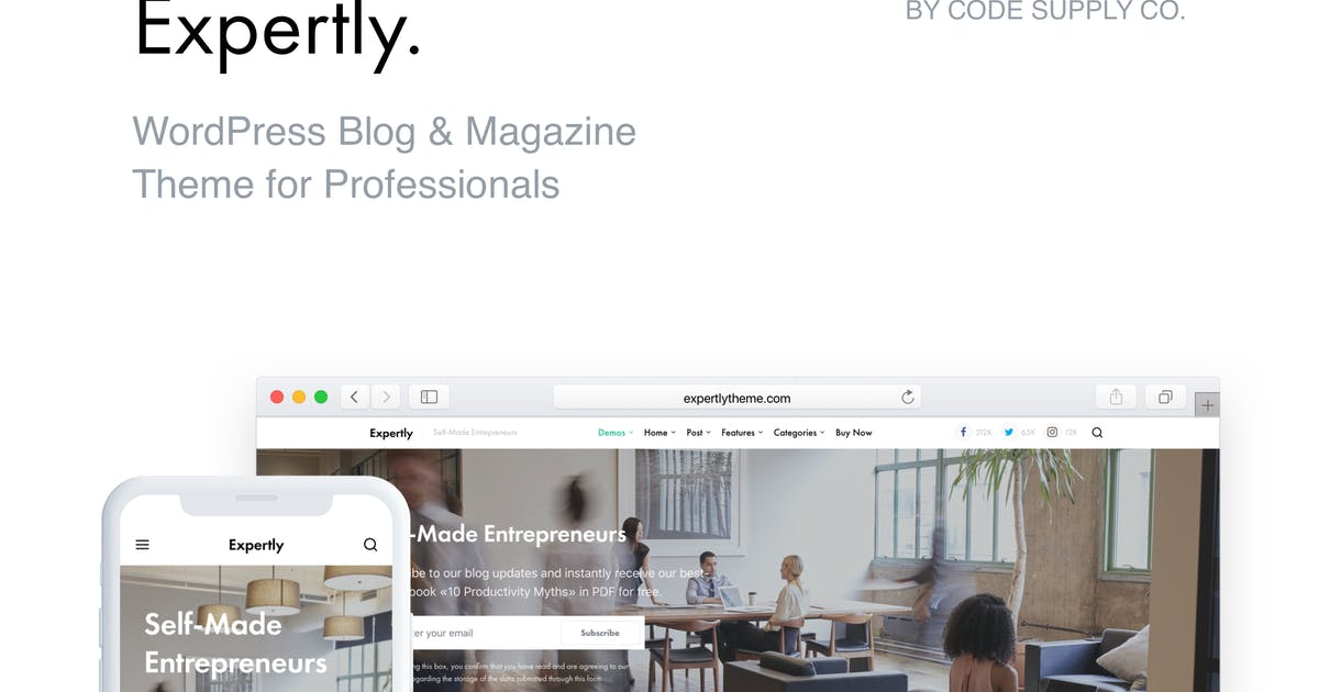 Download Expertly - WordPress Blog & Magazine Theme for Pro by codesupplyco